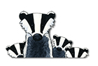 Link to 'Badger mum and cubs'